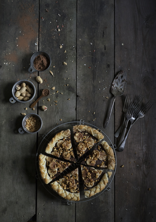 Rustic Chocolate Peanut Butter PIe